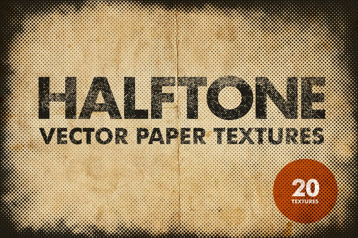 Thumbnail for Halftone Vector Paper Textures