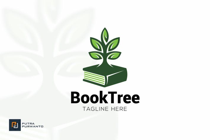 Thumbnail for Book Tree - Logo Template