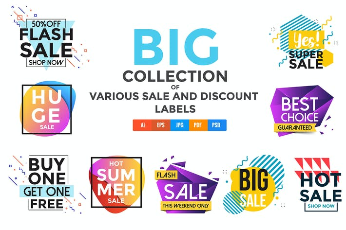 Cover Image For Vivid Collection of Sale Discount Styled Banners
