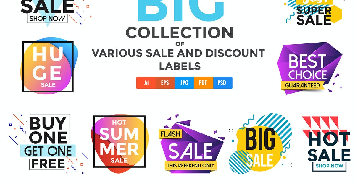 Vivid Collection of Sale Discount Styled Banners by graphics4u
