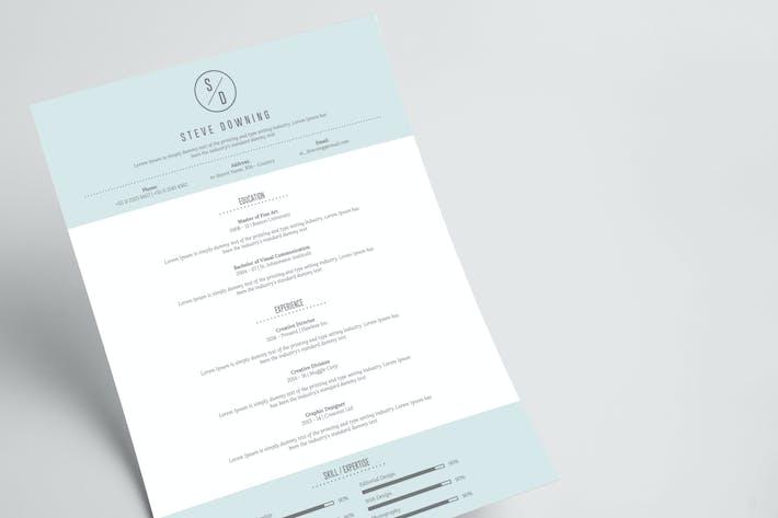 Thumbnail for Minimalist Resume & Letterhead
