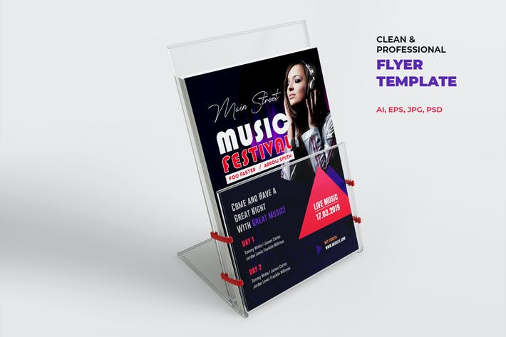 Thumbnail for Music Flyer Template