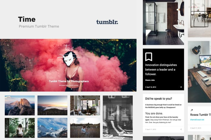 Thumbnail for Time | Photography Grid Tumblr Theme