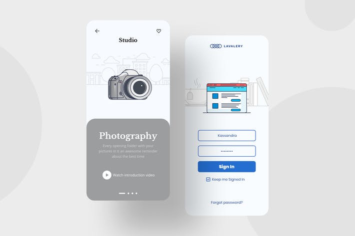 Thumbnail for Photo Mobile Interface Illustrations