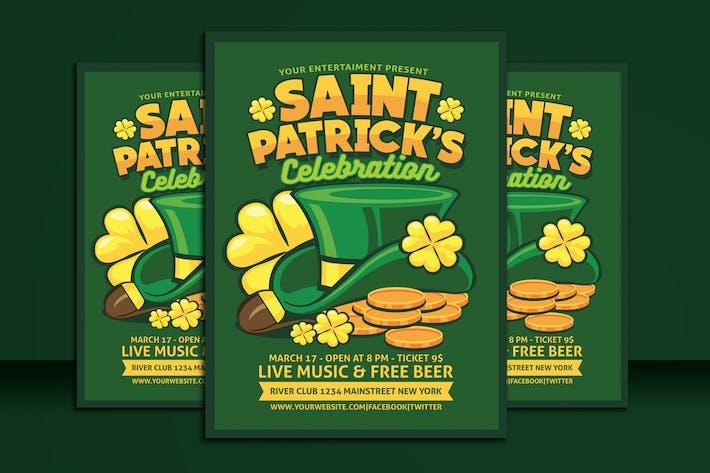 Thumbnail for Saint Patrick Celebration Flyer