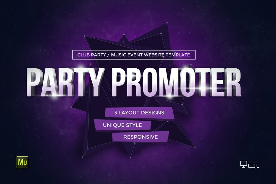 Party Promoter - Club Music Event Muse Template