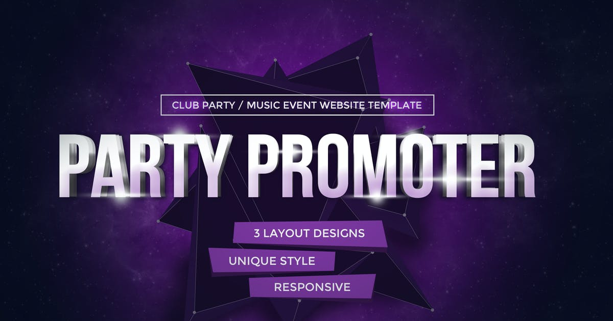 Download Party Promoter - Club Music Event Muse Template by vinyljunkie