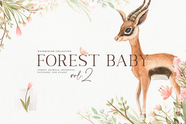 Thumbnail for Watercolor Forest Baby Vol.2