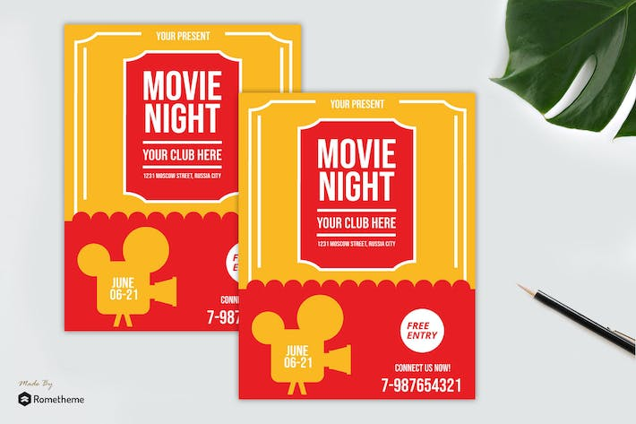 Thumbnail for Movie Night Flyer vol. 02
