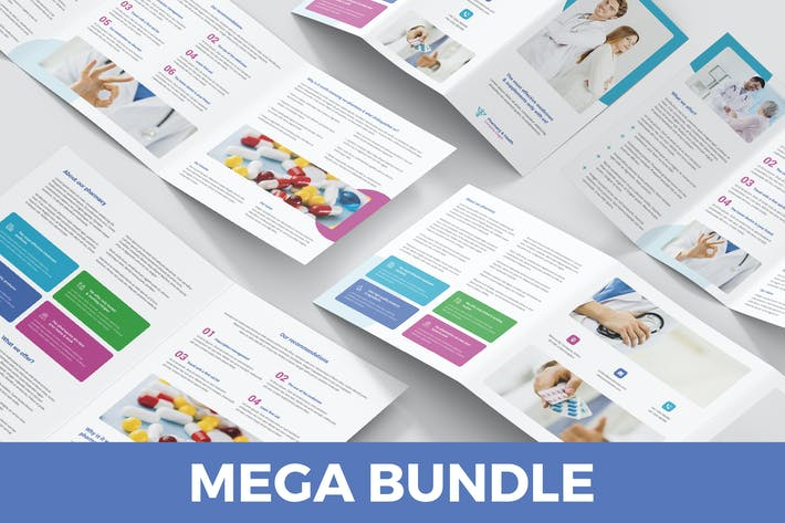 Cover Image For Pharmacy – Brochures Bundle 5 in 1