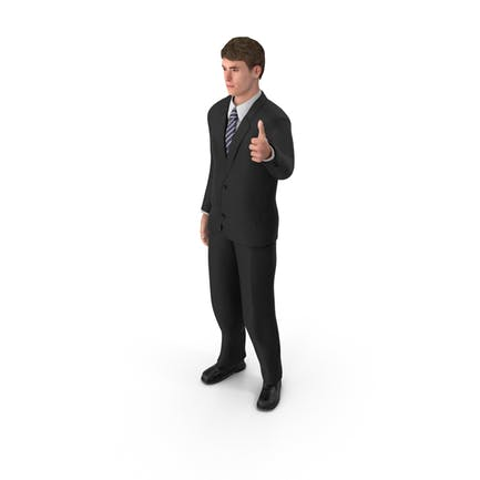 Businessman John Thumbs Up