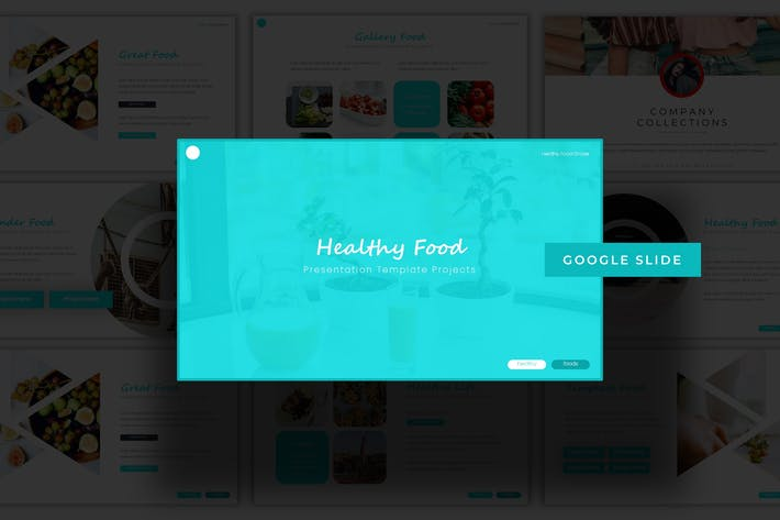 Thumbnail for Healthy Food - Google Slide Template