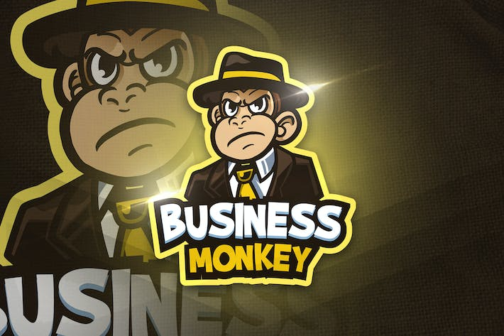 Thumbnail for Business Monkey - Mascot & Esport Logo