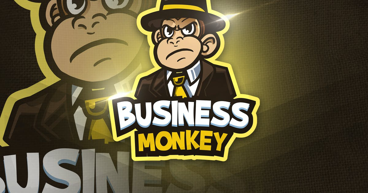 Download Business Monkey - Mascot & Esport Logo by aqrstudio