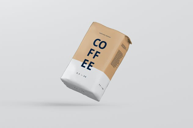 Coffee Paper Bag Mockup - product preview 0