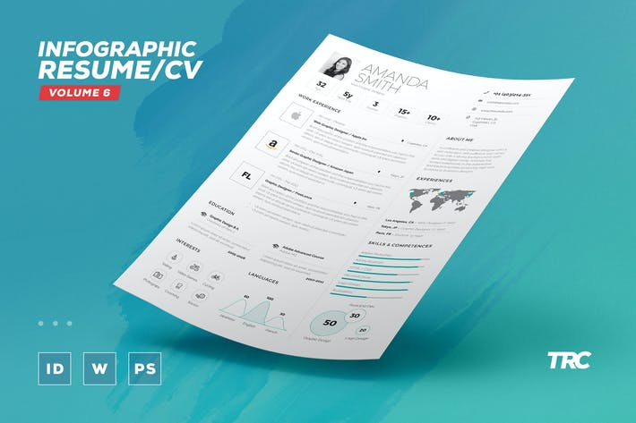 Thumbnail for Infographic Resume/Cv Volume 6