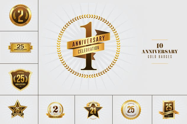 Anniversery Gold Badges