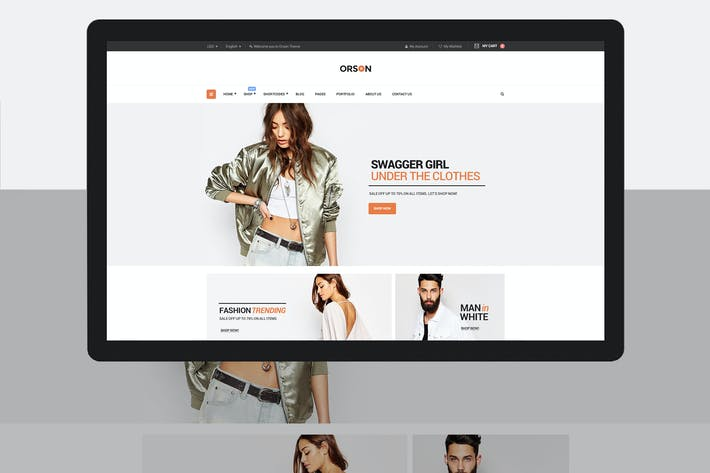 Cover Image For Orson - An eCommerce PSD Template