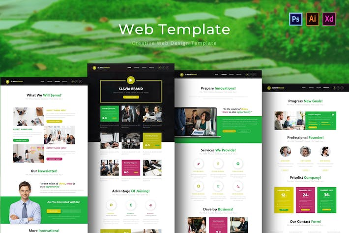 Thumbnail for Slaviabrand Web Template