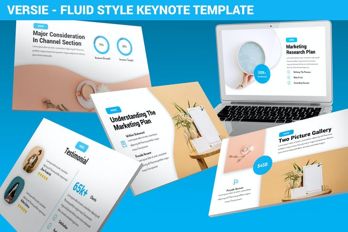 Thumbnail for Versie - Fluid Style Keynote Template