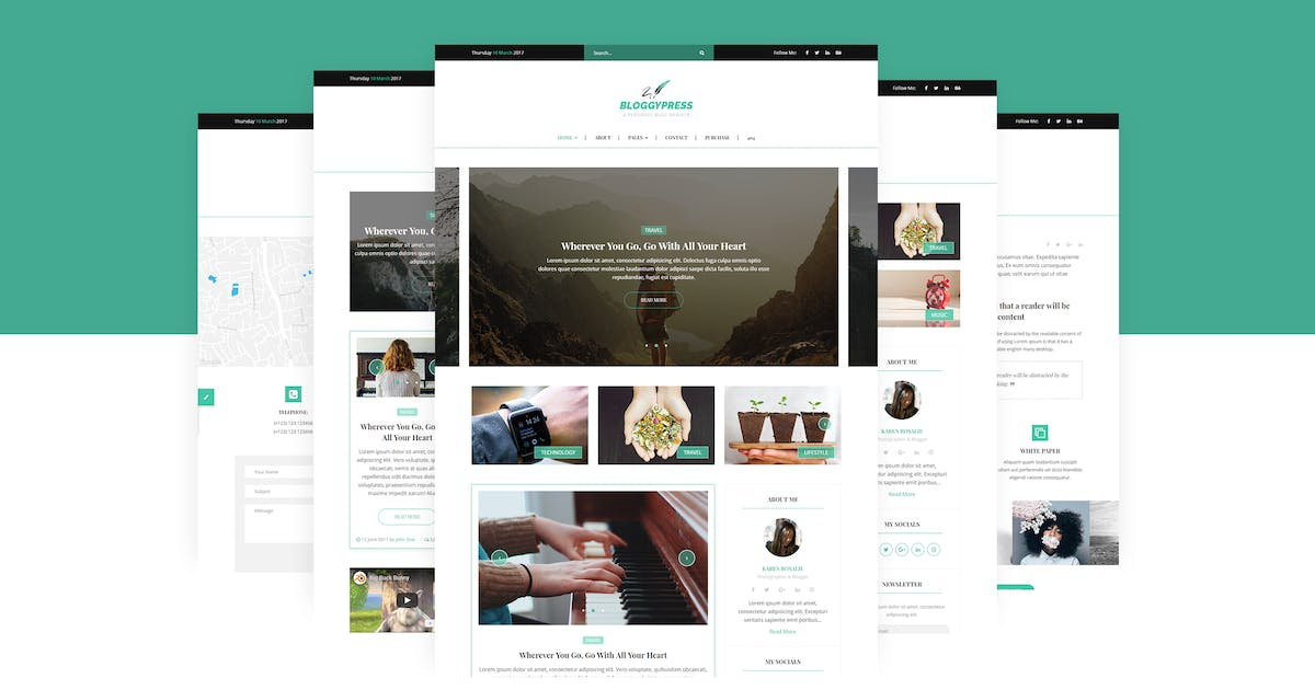 BloggyPress   Personal Blog HTML5 Template by themelooks