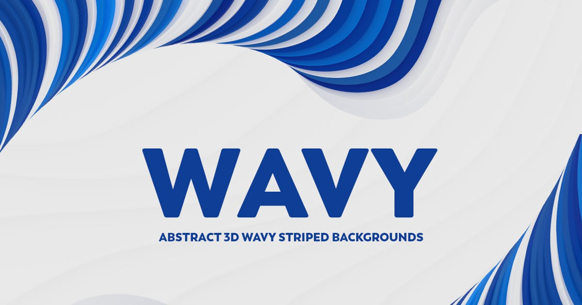 Download Abstract 3D Wavy Striped Backgrounds by mamounalbibi