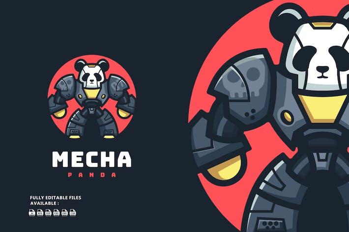 Mechanical Panda Cartoon Logo
