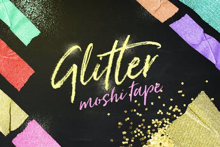 Glitter Moshi Tape Objects