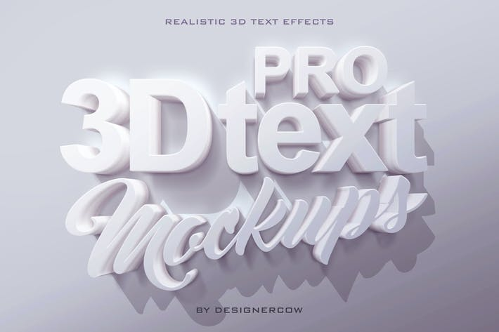 Thumbnail for Pro 3D Text Mockups