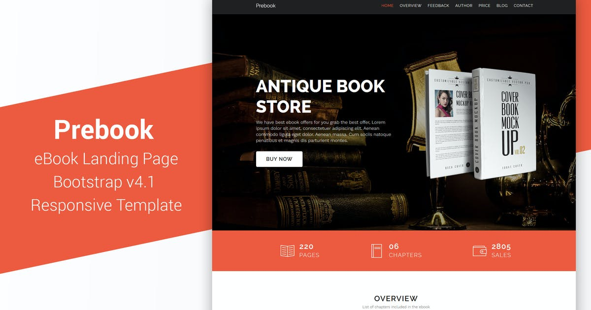 Download Prebook - eBook Landing Page Responsive Bootstrap by Muse-Master