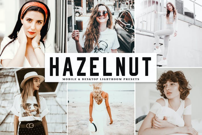 Thumbnail for Hazelnut Mobile & Desktop Lightroom Presets
