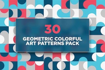 30 Geometric Colorful Art Patterns Pack