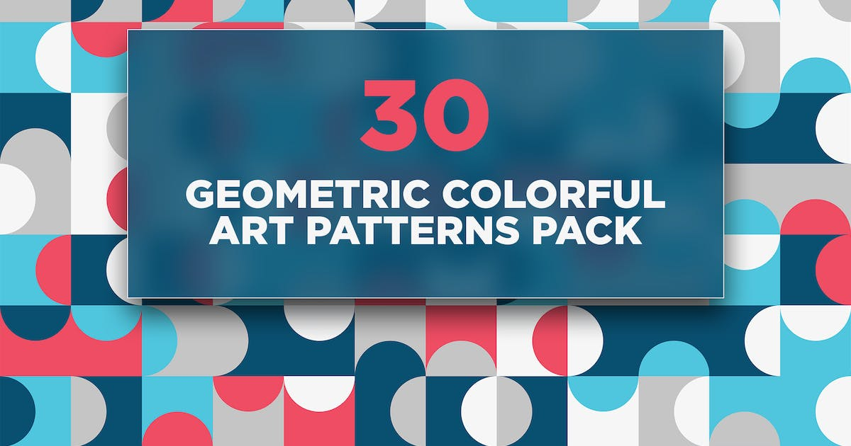 Download 30 Geometric Colorful Art Patterns Pack by traint
