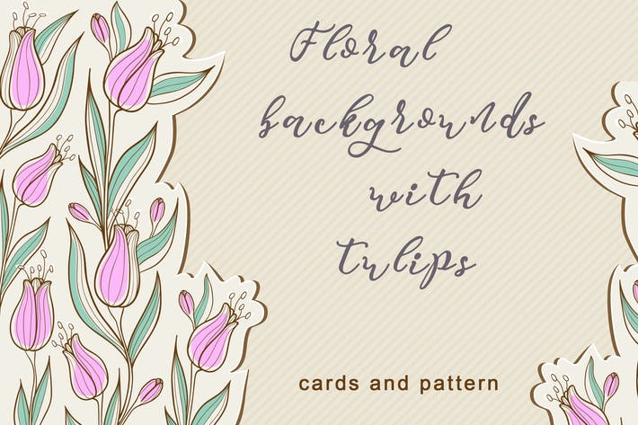 Thumbnail for Floral Backgrounds with Tulips