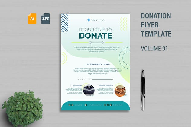 Donation Flyer Template Vol. 01