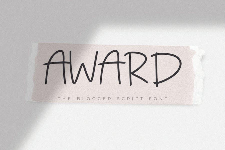 Award - Police de script du Blogger
