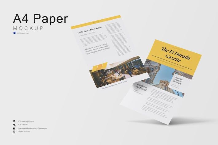 Maquette de papier A4