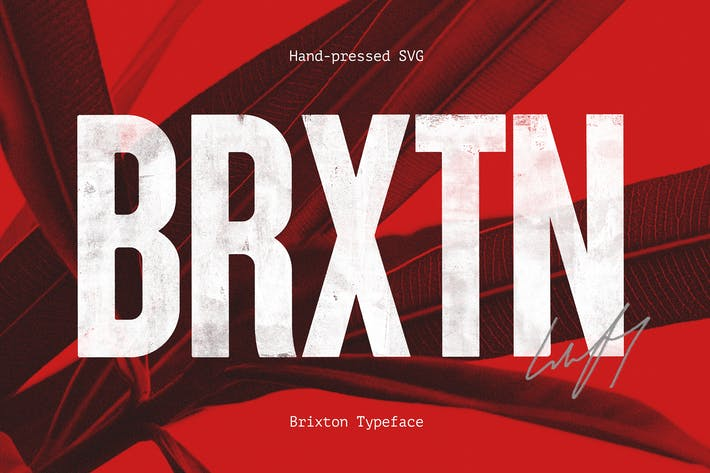 Thumbnail for Brixton SVG - Handprinted Typefamily