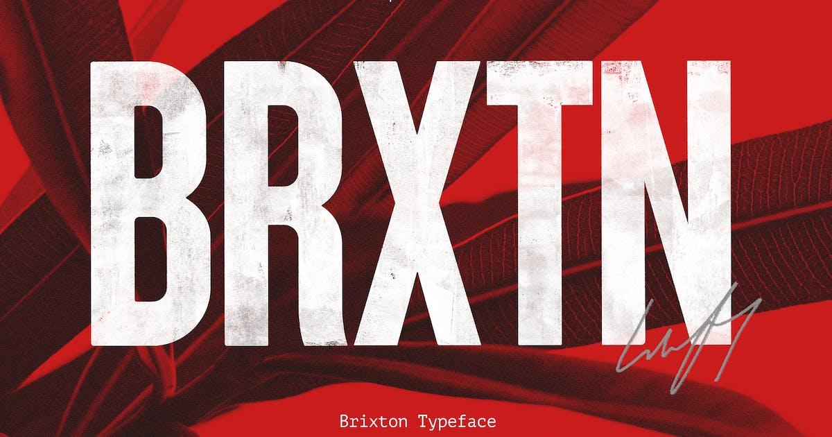 Download Brixton SVG - Handprinted Typefamily by Corslu