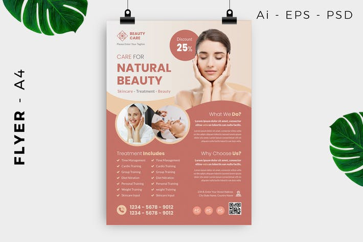Thumbnail for Natural Beauty Flyer Design