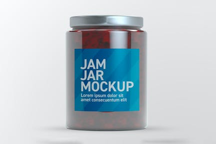 Jam Glass Jar Mockup