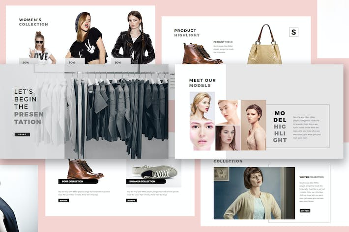 Thumbnail for Fashion Lookbook Keynote Template