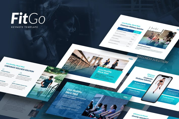 Thumbnail for Fitgo - Keynote Template