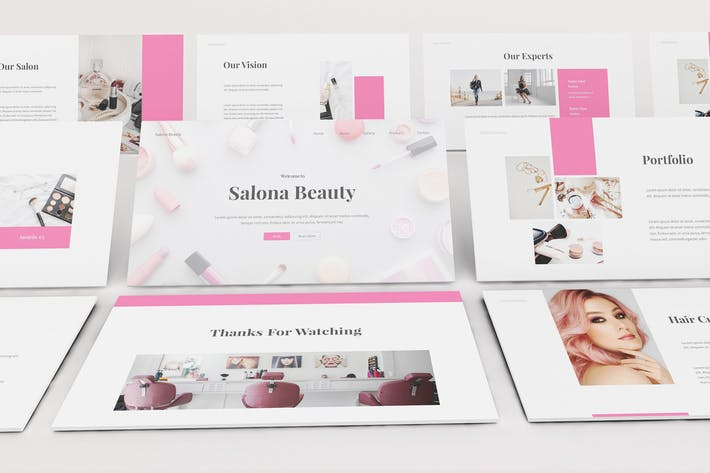 Beauty Salon Keynote Template