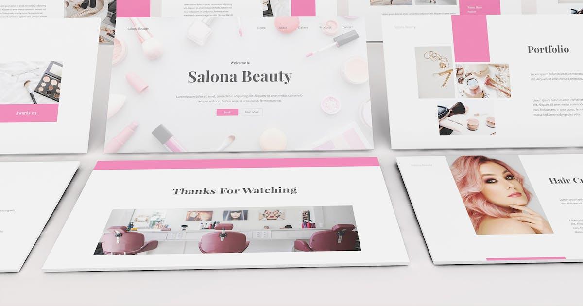 Download Beauty Salon Keynote Template by Formatika