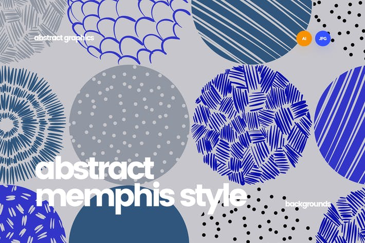 Cover Image For Abstract Patterns in the Memphis Style Design