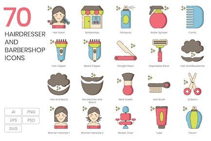 70 Hairdresser & Barbershop Icons - Hazel Series