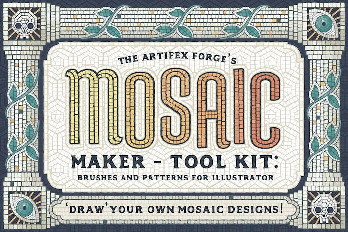 Thumbnail for Мозаика Maker - Кисти & Шаблоны
