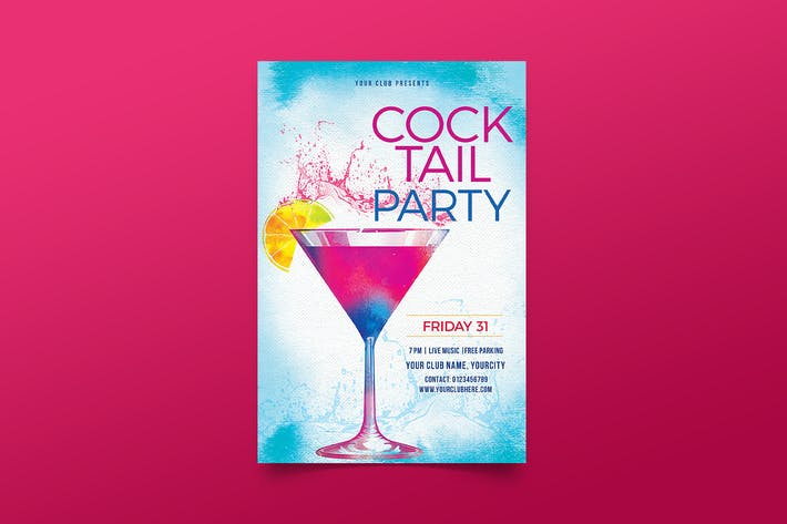 Thumbnail for dépliant de soirée Cocktail