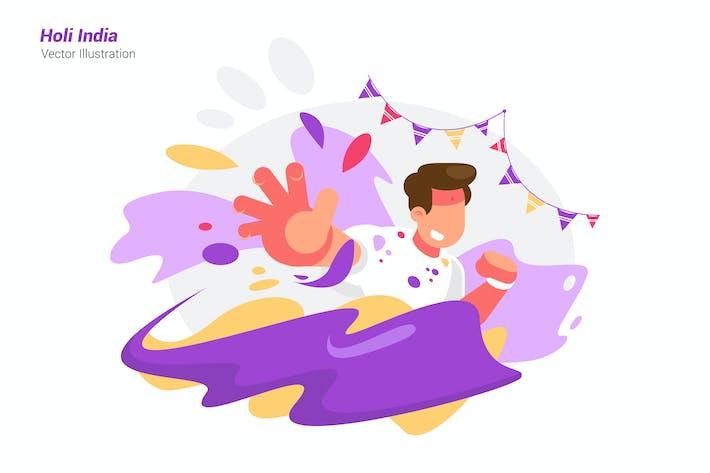 Holi India - Vektor-Illustration